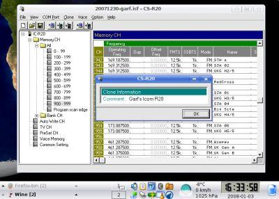 CS-R20 running in Kubuntu Linux