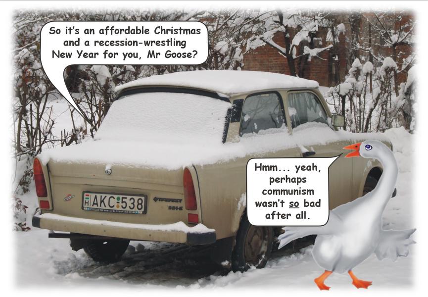 The Shabby Trabi - Garf Technology Christmas card 2008