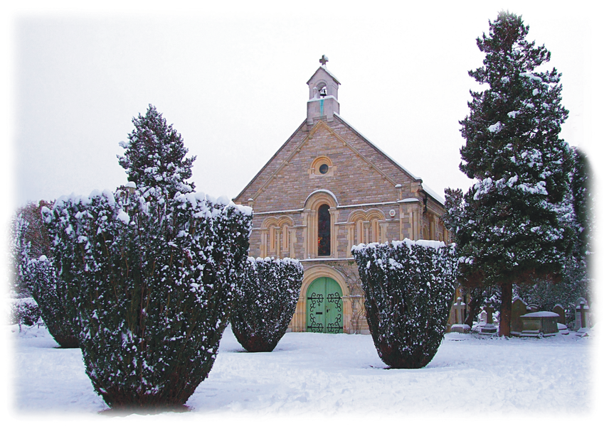 Christmas card 2010, The Old Cemetery in the Snow.