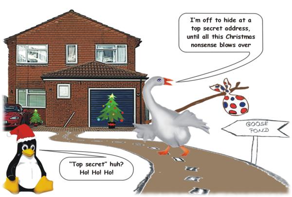 Mr Goose's (not so) secret Yuletide hideaway