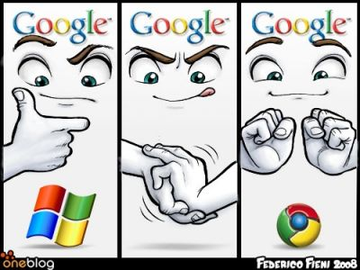 Google Windows cartoon currentky doing the rounds on the web