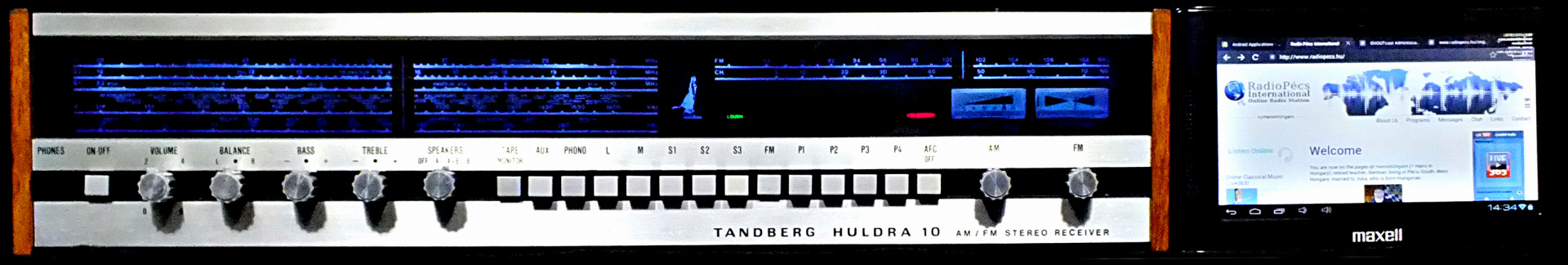 Tandberg Huldra 10 and Maxell C7 playing Radio Pécs International