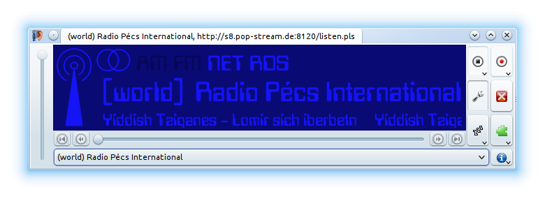 Radio Pécs International played in the excellent KRadio4 player for Linux users with the KDE desktop